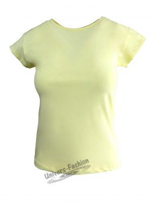 Tricou damă - galben uni