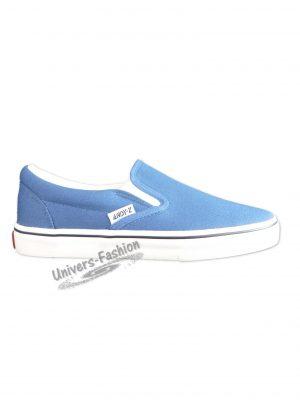 Teniși damă cu inchidere elastică - albastru