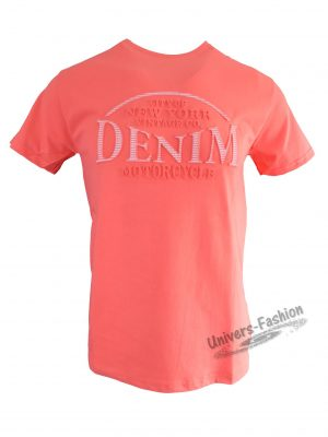 """Tricou bărbat - corai cu logo 3D """"DENIM"""""""