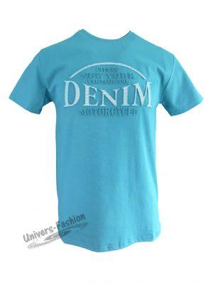 """Tricou bărbat - verde inchis cu logo 3D """"DENIM"""""""
