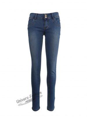 Jeans damă - albastru cu 5 buzunare