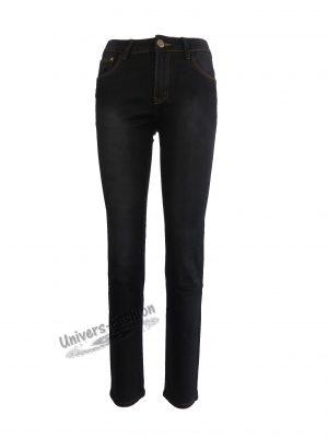 Jeans damă - negru cu 5 buzunare