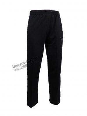 Pantaloni trening bărbat - negru cu 2 buzunare laterale cu fermoare și un buzunar la spate cu fermoar