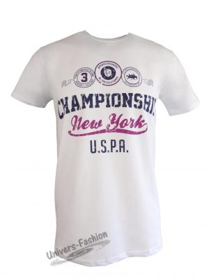 "Tricou bărbat - alb, imprimeu ""Championship New York"""