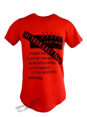 """Tricou bărbat - roșu, imprimeu """"soul mate"""""""