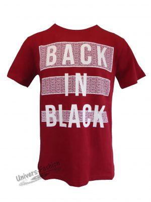 """Tricou bărbat - rosu cu logo """"BACK IN BLACK"""""""
