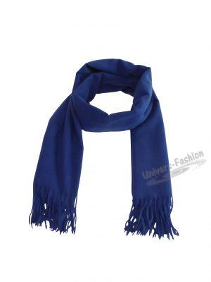 Fular  180 cm x 78 cm, uni, albastru