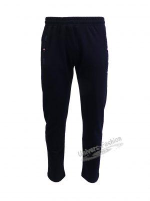 Pantaloni trening barbat, culoare albastru, 2 buzunare laterale și un buzunar la spate cu fermoare