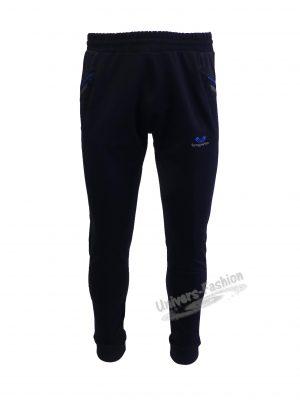 Pantaloni trening barbat, culoare albastru, 2 buzunare laterale, un buzunar la spate cu fermoare