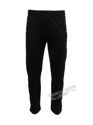 Pantaloni trening barbat, culoare neagra, 2 buzunare laterale și un buzunar la spate cu fermoare