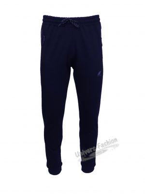 Pantaloni trening barbat, 2 buzunare laterale cu fermoare, culoare albastru, regular fit