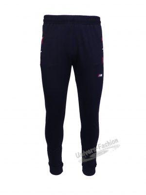 Pantaloni trening barbat, albastru, slim fit, 2 buzunare laterale și un buzunar la spate cu fermoare