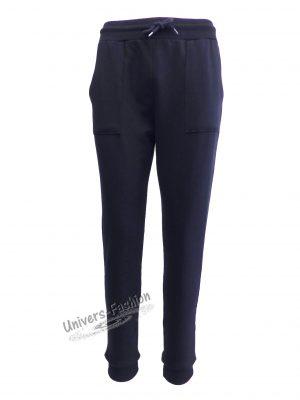 Pantaloni trening dama, albastru cu 2 buzunare