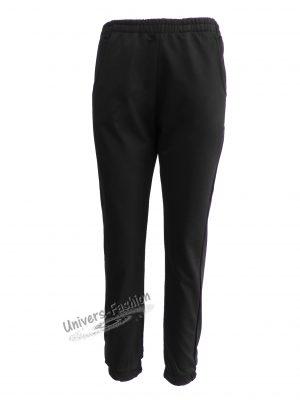 Pantaloni trening dama, culoare neagra cu 2 buzunare