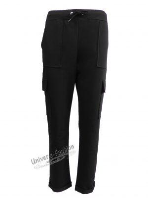 Pantaloni trening dama, culoare neagra cu 4 buzunare