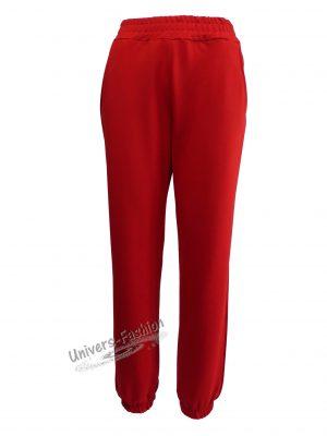 Pantaloni trening dama, culoare rosu cu 2 buzunare