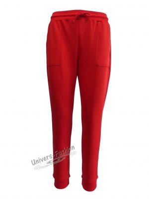 Pantaloni trening dama, rosu cu 2 buzunare