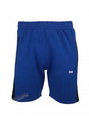 """Bermude barbat, albastru, 2 buzunare laterale și un buzunar la spate cu fermoare, imprimeu """"ICON"""""""