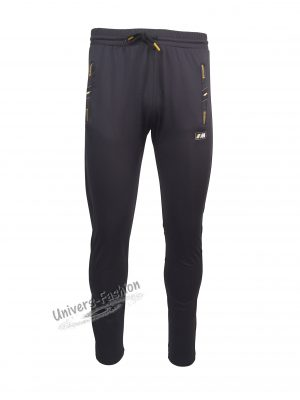 Pantaloni trening barbat, din silon, 2 buzunare laterale și un buzunar la spate cu fermoare, culoare gri, slim fit