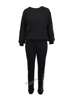Trening dama, culoare neagra cu imprimeu 'Wing Wind'