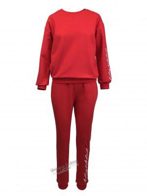 Trening dama, culoare rosu cu imprimeu 'Wing Wind'