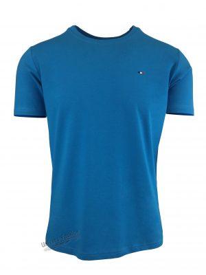 Tricou barbat, uni, culoare albastru deschis