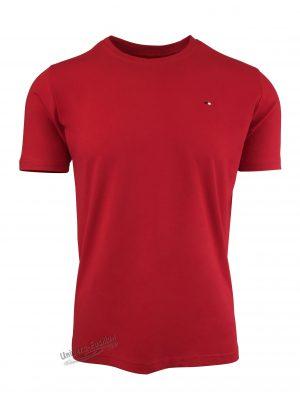 Tricou barbat, uni, culoare rosu