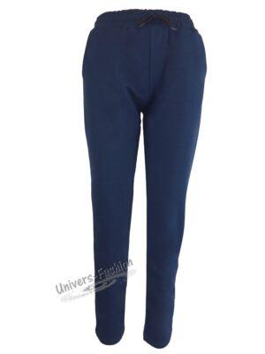 Pantaloni trening dama, 2 buzunare, albastru cobalt