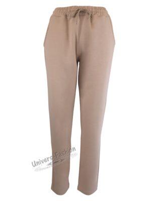 Pantaloni trening dama, 2 buzunare, bej