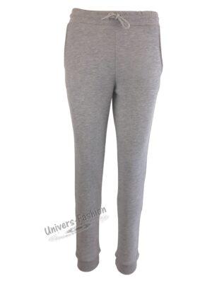 Pantaloni trening dama, 2 buzunare, culoare gri deschis