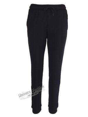 Pantaloni trening dama, 2 buzunare, culoare neagra