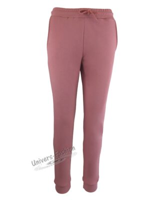 Pantaloni trening dama, 2 buzunare, culoare roz