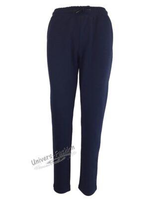 Pantaloni trening dama, 2 buzunare, indigo