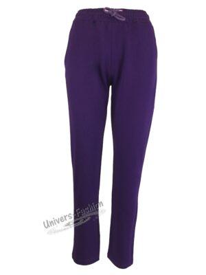 Pantaloni trening dama, 2 buzunare, mov
