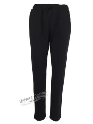 Pantaloni trening dama, 2 buzunare, negru