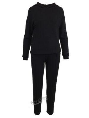 Compleu tricotat, 2 piese, negru