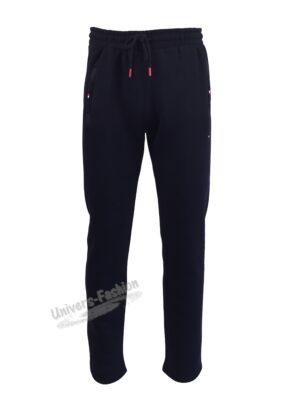 Pantaloni trening barbat, 2 buzunare laterale și un buzunar la spate cu fermoare, vatuit la interior, albastru