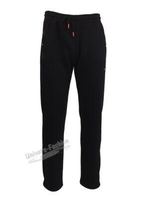 Pantaloni trening barbat, 2 buzunare laterale și un buzunar la spate cu fermoare, vatuit la interior, negru